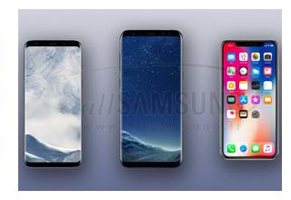 مقایسه گوشی گلکسی اس 8 و اس 8 پلاس سامسونگ با آیفون X اپل