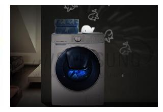 ماشین لباس شویی سامسونگ با قابلیت برنامه ریزی شست و شو