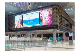 نصب بزرگترین ساینیج LED Indoor فرودگاهی دنیا توسط سامسونگ