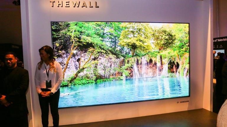 ارتقای فناوری تلویزیون 75 اینچی The Wall سامسونگ در سال 2019