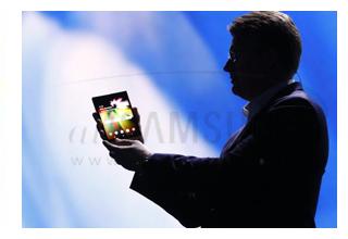 نمایش گوشی تاشو سامسونگ در نمایشگاه CES 2019