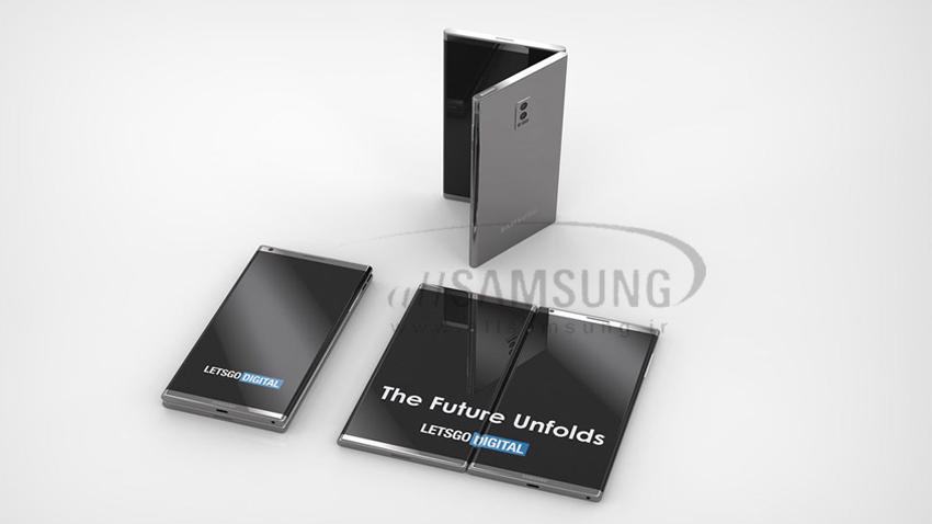 پتنت نمایش داده شده از گلکسی Flex سامسونگ با طراحی ظریف و دو صفحه نمایش زیبا