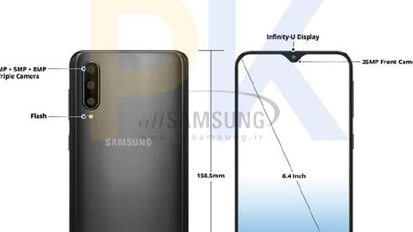 گلکسی A50 با دوربین سه گانه و نمایشگر جدید Infinity-U و سایر قابلیت های جدید