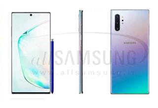رندرهای جدید گلکسی Galaxy Note 10 پلاس و افشای ویژگی های جدید