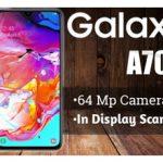 گلکسی A70s، اولین گوشی سامسونگ مجهز به دوربین عقب 64 مگاپیکسلی