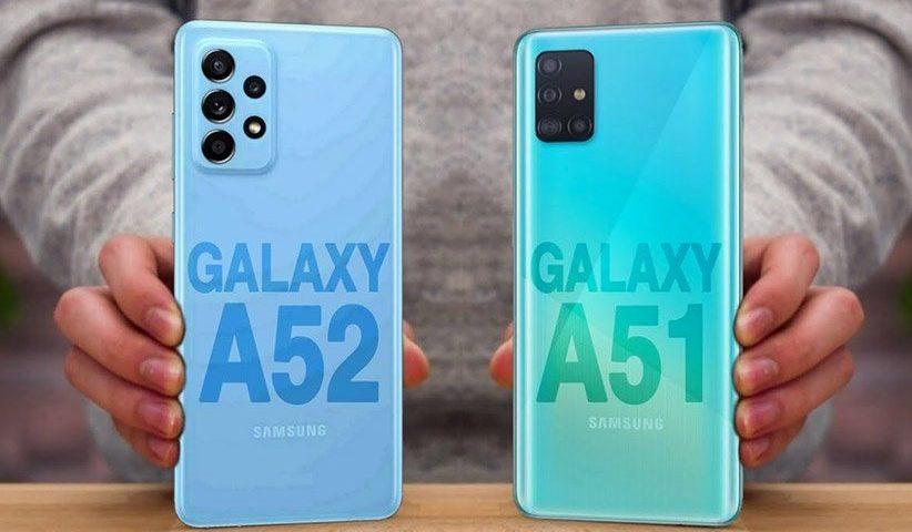 مقایسه گلکسی A51 و A52