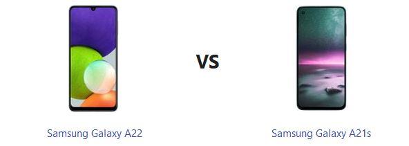 مقایسه گلکسی A22 و A21 سامسونگ