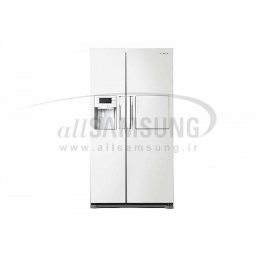 یخچال فریزر ساید بای ساید سامسونگ 25 فوت اچ ام 34 سفید چرمی Samsung Side By Side HM34 White
