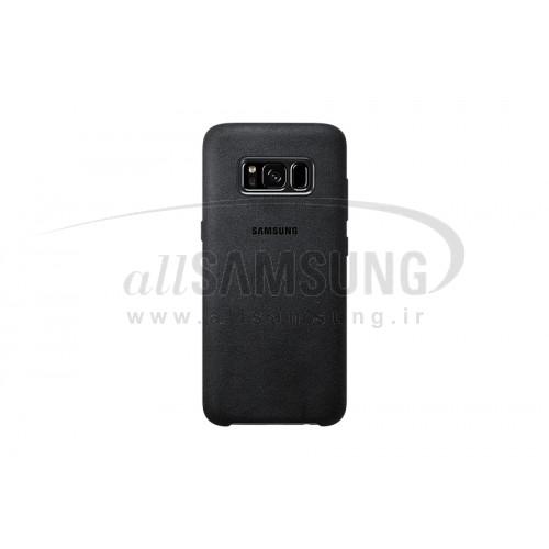 گلکسی اس 8 سامسونگ آلکانتارا کاور مشکی Samsung Galaxy S8 Alcantara Cover Black EF-XG950AS