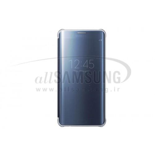 گلکسی اس 6 اج پلاس سامسونگ کلیر ویو کاور مشکی Samsung Galaxy S6 edge Plus Clear View Cover Black