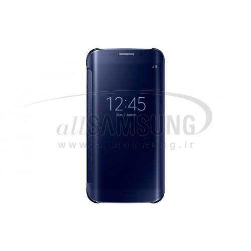 گلکسی اس 6 اج سامسونگ کلیر ویو کاور مشکی Samsung Galaxy S6 Edge Clear View Cover Black