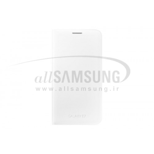 گلکسی ایی 7 سامسونگ فلیپ ولت سفید Samsung Galaxy E7 Flip Wallet White