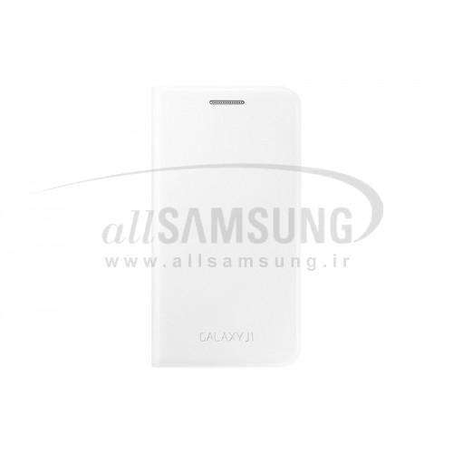 گلکسی جی 1 سامسونگ فلیپ کاور سفید Samsung Galaxy J1 Flip Cover White