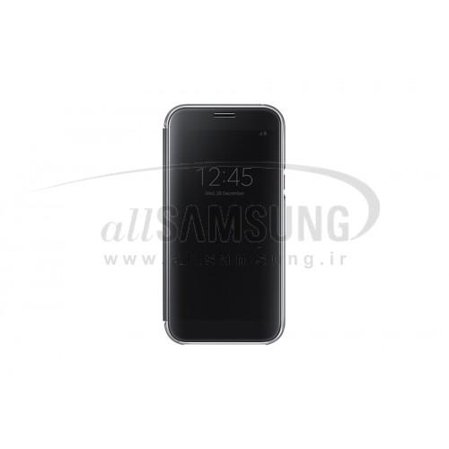 گوشی سامسونگ گلکسی ای 7 2017 کلیر ویو کاور مشکی Samsung Galaxy A7 2017 Clear View Cover Black EF-ZA720