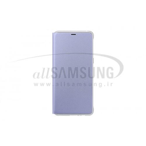 گوشی سامسونگ گلکسی ای 8 نئون فلیپ کاور ارغوانی Samsung Galaxy A8 Neon Flip Cover FA530P Orchid Gray