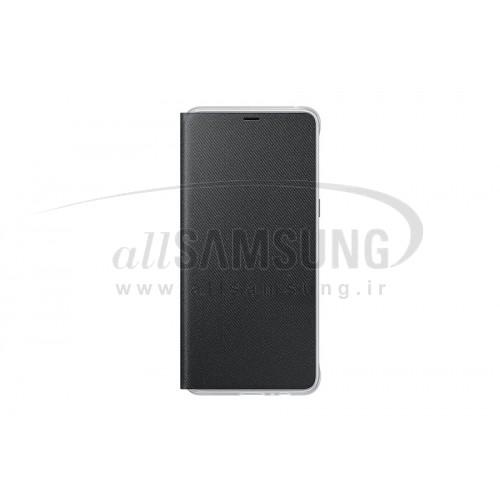 گوشی سامسونگ گلکسی ای 8 پلاس نئون فلیپ کاور مشکی Samsung Galaxy A8+ 2018 Neon Flip Cover FA730P Black