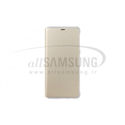 گوشی سامسونگ گلکسی ای 8 پلاس نئون فلیپ کاور طلایی Samsung Galaxy A8+ 2018 Neon Flip Cover FA730P Gold