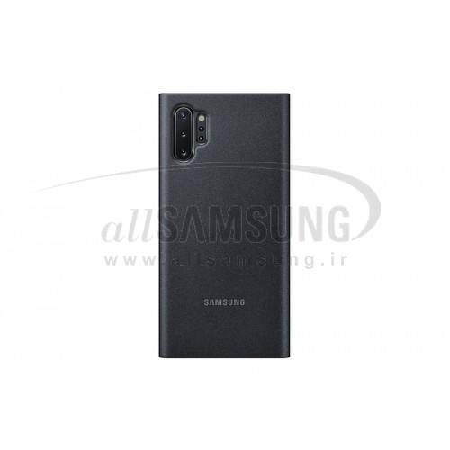 گلکسی نوت 10 پلاس سامسونگ کلیر ویو کاور مشکی Samsung Galaxy Note10+ Clear View Cover Black