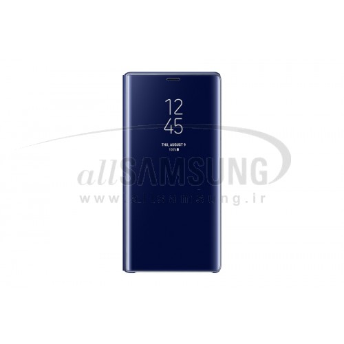گلکسی نوت 9 سامسونگ کلیر ویو استندینگ کاور آبی Samsung Galaxy Note9 Clear View Standing Cover Blue