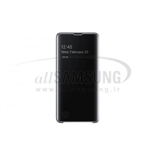 گلکسی اس 10 پلاس سامسونگ کلیر ویو کاور مشکی Samsung Galaxy S10+ Clear View Cover Black