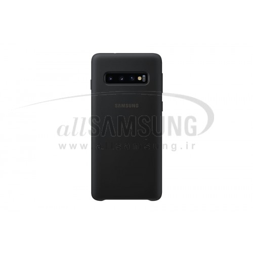 گلکسی اس 10 سامسونگ سیلیکون کاور مشکی Samsung Galaxy S10 Silicone Cover Black EF-PG973TB