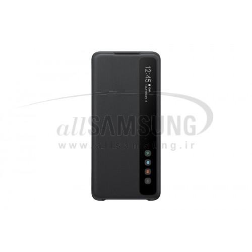 گلکسی اس 20 پلاس سامسونگ اسمارت کلیر ویو کاور مشکی Samsung Galaxy S20+ Clear View Cover Black ZG985CB