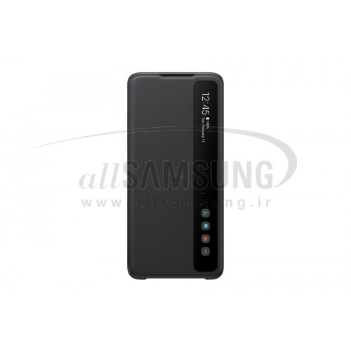 گلکسی اس 20 اولترا سامسونگ اسمارت کلیر ویو کاور مشکی Samsung Galaxy S20 Ultra Smart Clear View Cover Black