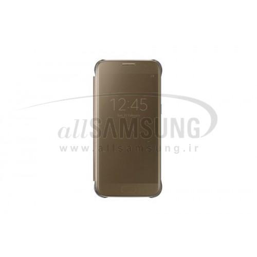 گلکسی اس 7 سامسونگ کلیر ویو کاور طلایی Samsung Galaxy S7 Clear View Cover Gold
