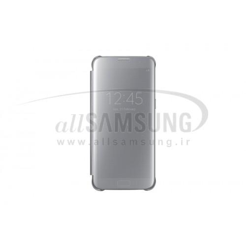 گلکسی اس 7 سامسونگ کلیر ویو کاور نقره ای Samsung Galaxy S7 Clear View Cover Silver