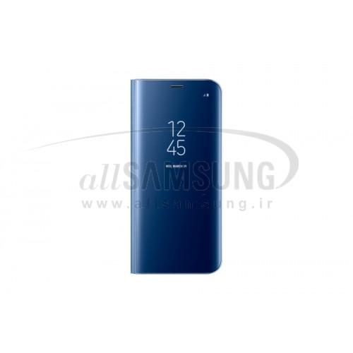 گلکسی اس 8 پلاس سامسونگ کلیر ویو استندینگ کاور آبی Samsung Galaxy S8+ Clear View Standing Cover Blue EF-ZG955CB