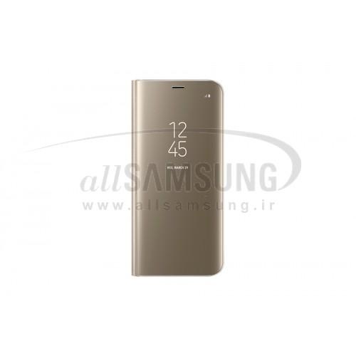 گلکسی اس 8 پلاس سامسونگ کلیر ویو استندینگ کاور طلایی Samsung Galaxy S8+ Clear View Standing Cover Gold