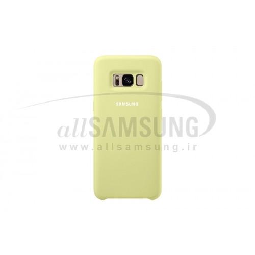 گلکسی اس 8 سامسونگ سیلیکون کاور سبز Samsung Galaxy S8 Silicone Cover Green