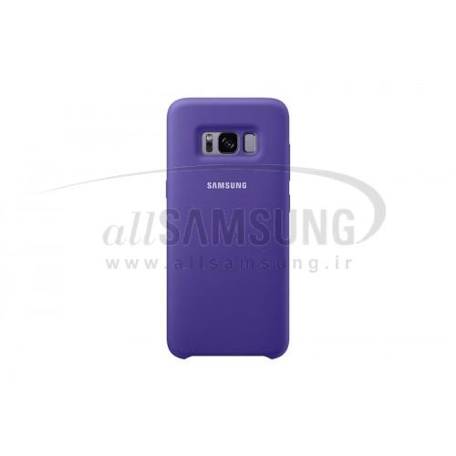 گلکسی اس 8 پلاس سامسونگ سیلیکون کاور بنفش Samsung Galaxy S8+ Silicone Cover Purple
