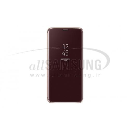 گلکسی اس 9 پلاس سامسونگ کلیر ویو استندینگ کاور طلایی Samsung Galaxy S9+ Clear View Standing Cover Gold