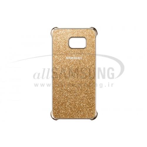 گلکسی اس 6 اج پلاس سامسونگ گلیتر کاور طلایی  Samsung Galaxy S6 edge Plus Glitter Cover Gold