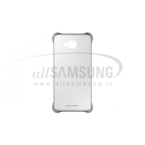 گلکسی ای 5 2016 سامسونگ کلیر کاور طلایی Samsung Galaxy A5 2016 Clear Cover Gold