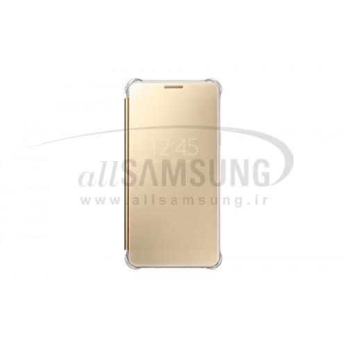 گلکسی ای 7 2016 سامسونگ کلیر ویو کاور طلایی Samsung Galaxy A7 2016 Clear View Cover Gold