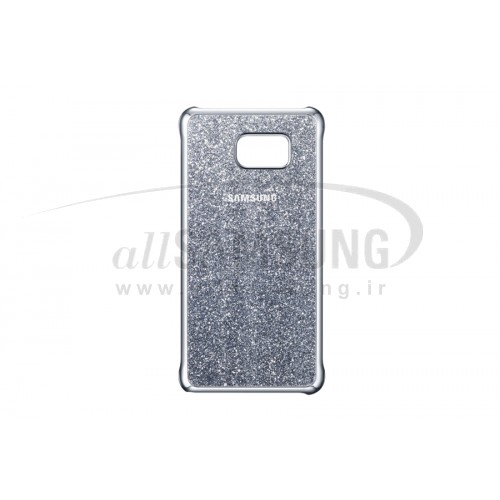 گلکسی نوت 5 سامسونگ گلیتر کاور نقره ای Samsung Galaxy Note5 Glitter Cover Silver