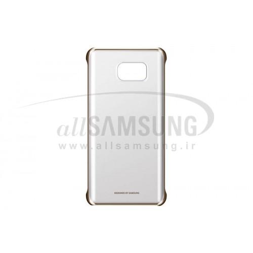 گلکسی نوت 5 سامسونگ کلیر کاور طلایی Samsung Galaxy Note5 Clear Cover Gold