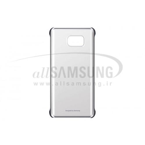 گلکسی نوت 5 سامسونگ کلیر کاور نقره ای Samsung Galaxy Note5 Clear Cover Silver