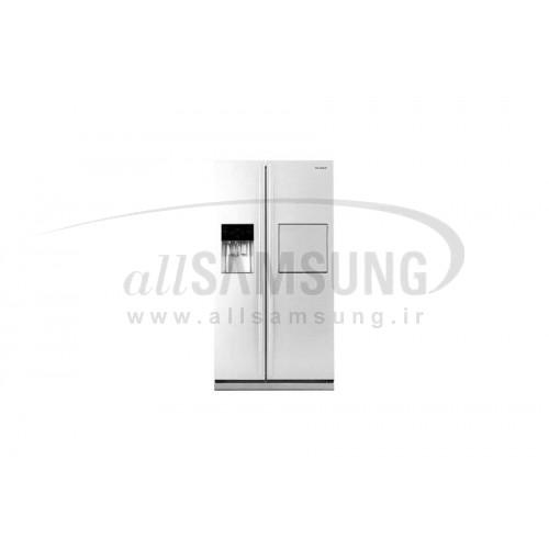 یخچال فریزر ساید بای ساید سامسونگ 25 فوت آر اس 225 سفید چرمی Samsung Side By Side RS225 White