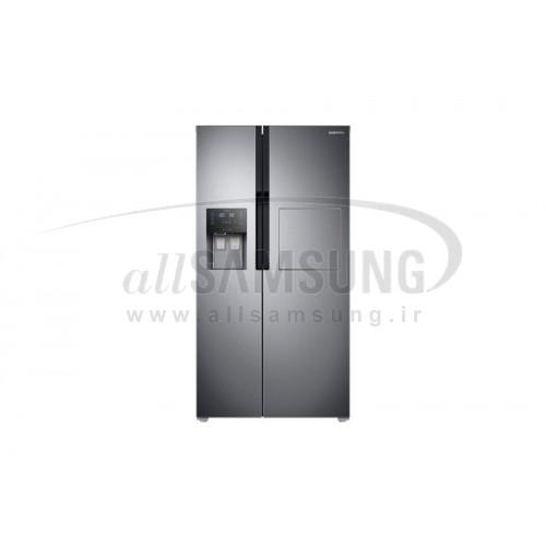 یخچال فریزر ساید بای ساید سامسونگ 25 فوت RS25 استیل Samsung Side By Side RS25 with Home Bar Steel
