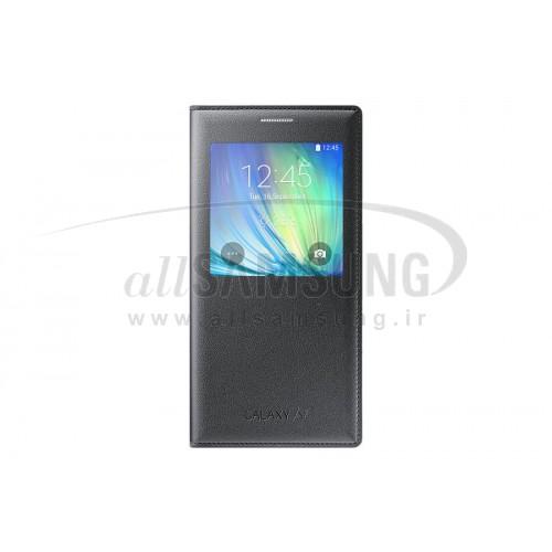 گلکسی ای 7 سامسونگ اس ویو کاور خاکستری Samsung Galaxy A7 S View Cover Gray