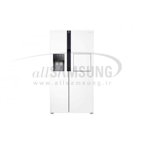 یخچال فریزر ساید بای ساید سامسونگ 23 فوت آر اس 223 سفید چرمی Samsung Side By Side RS223 White