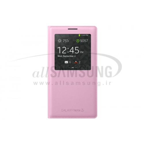 گلکسی نوت 3 سامسونگ اس ویو کاور صورتی Samsung Galaxy Note3 S View Cover Pink
