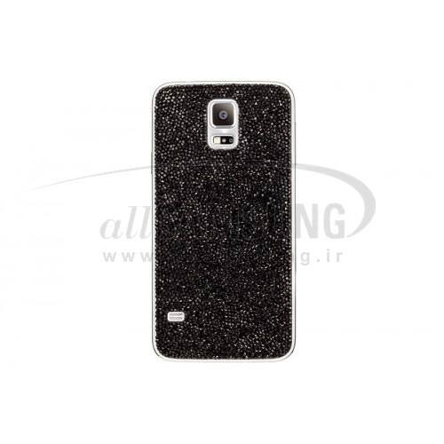 گلکسی اس 5 سامسونگ کاور کریستالی مشکی Samsung Galaxy S5 Swarovski Crystal Battery Cover Black