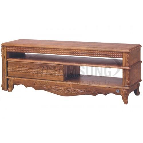 میز تلویزیون سامسونگ مدل R712 آنتیک طلایی Tv Stand R712 Antique Gold