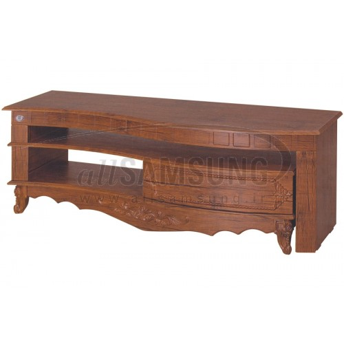 میز منحنی تلویزیون سامسونگ مدل R714 آنتیک کاج Tv Stand R714 Antique Kaj Curve
