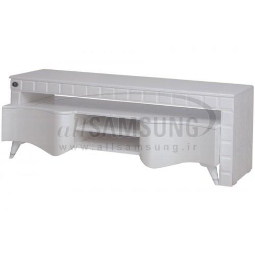 میز منحنی تلویزیون سامسونگ مدل R804 سفید لیزری Tv Stand R804 Laser White Curve
