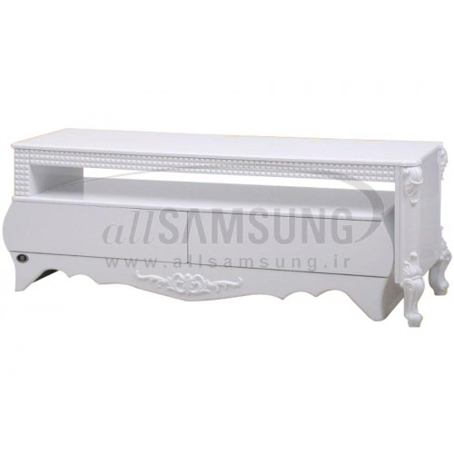میز تلویزیون سامسونگ مدل R812 سفید هایگلاس ترک Tv Stand R812 White High Gloss